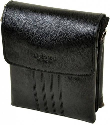 Стильная мужская сумка планшет из искусственной кожи dr.Bond 88346-2 black