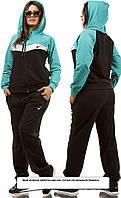 Спортивный костюм теплый и демисезон женский от обычного размера до батала, фото 1