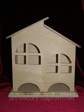 Будиночок для чайних пакетиків (заготівля) подвійний (20 х 11 х 23 см), фото 2