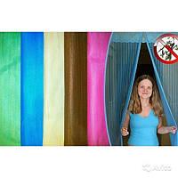 Антимоскитная сетка штора 90х210см на дверь на магнитах