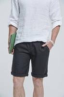 Классические мужские шорты из льна удлиненые городской стиль. Цвета разные, фото 1