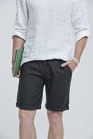 Классические мужские шорты из льна удлиненые городской стиль. Цвета разные