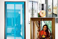 Антимоскитная сетка штора 100х210см на дверь на магнитах   , фото 1