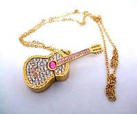 Подарочная флешка гитара с алмазами подарочная