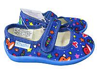 Тапочки в садик для мальчика, текстильная обувь Vitaliya, ТМ Виталия Украина, р-р 23-27