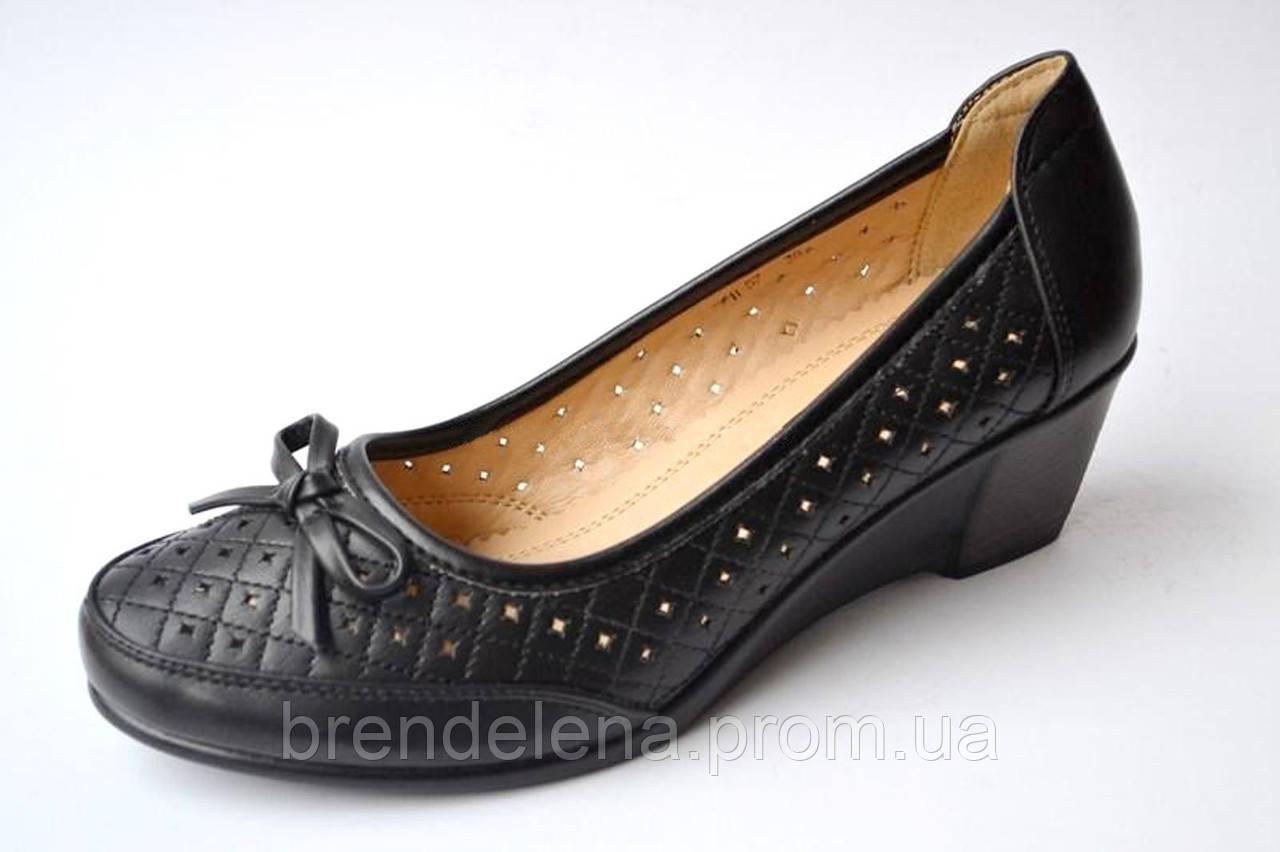 Туфли женские черные  р. 37