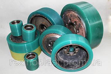 Восстановление полиуретаном колес, роликов тележек и погрузчиков