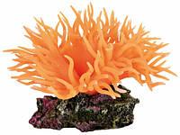 Декорация для аквариума Trixie (Трикси) Растение Anemone оранжевый, 8 см