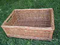 Ящик плетенный из лозы  50см*35 см. Корзины для хранения.