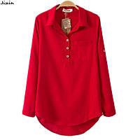 Красная льняная рубаха, классическая и со стойкой. Женская и мужская, фото 1