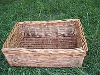 Ящик плетенный из лозы  44см*28 см. Корзины для хранения.
