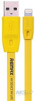 USB кабель REMAX Full Speed Lightning Cable Yellow