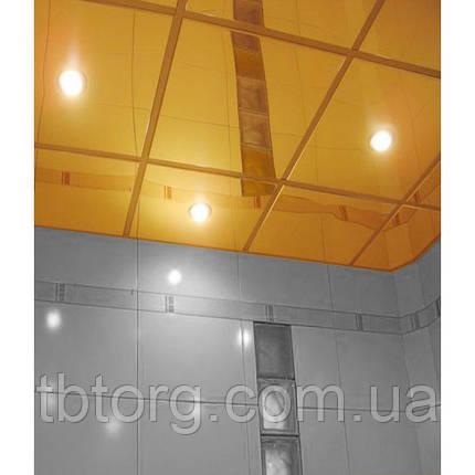 Металлические плиты для подвесного потолка 600х600. Золото, фото 2