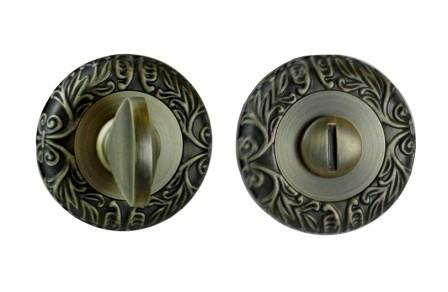 Фиксатор круглая розетка античная бронза (квадрат 6)