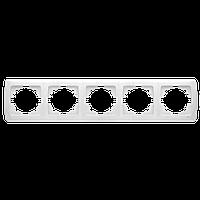 Пятерная горизонтальная рамка  белая VIKO  Carmen (90571105)