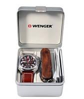 Набор наручные часы Wenger AeroGraph Cockpit Chrono 77014 и нож EvoWood 1.17.09.830