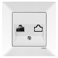 Розетка телефонная (RJ11) крем VIKO Meridian (90970213)