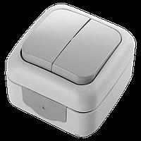 Выключатель 2-х клавишный белый VIKO Palmiye (90555402)