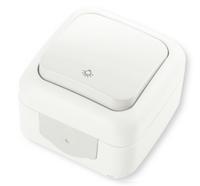 Кнопочный выключатель белый VIKO Palmiye (90555403)