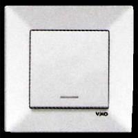 Выключатель с подсветкой б/с белый VIKO Meridian (90970119)