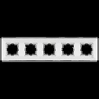 Пятерная вертикальная рамка  белая VIKO Meridian (90979005)