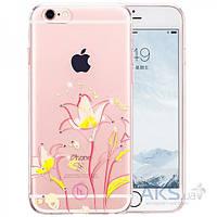 Чехол Hoco Super Star Inner Diamond Flower Apple iPhone 6 Plus, iPhone 6S Plus Goldband Lily