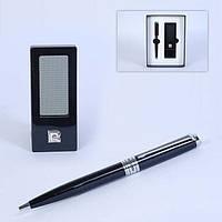 Часы портативные и ручка черная Pierre Cardin