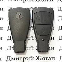 Корпус смарт ключа MERCEDES W210, W220, E-class (мерседес) 3 - кнопки (старая рыбка)