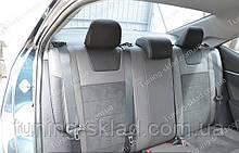 Чохли на Тойота Королла 11 (авточохли Toyota Corolla XI, Lether style)