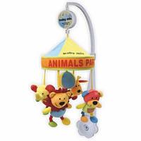Музыкальная карусель с мягкими игрушками под куполом Alexis-Baby Mix