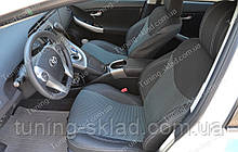 Чохли на сидіння Тойота Пріус (чохли з екошкіри Toyota Prius стиль Premium)