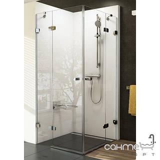 Душевые кабины, двери и шторки для ванн Ravak Душевой уголок Ravak Brilliant BSRV4-90 1UV77A00Z1 хром/прозрачное