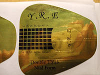 Форма для наращивания ногтей Y.R.E. широкие золотые 50 шт.