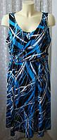 Платье женское летнее легкое яркое большой размер миди бренд DU р.56 6399а