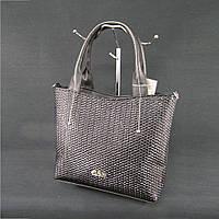 Женская сумка черная структурная