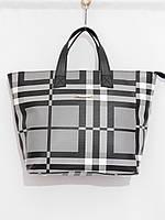 Классическая женская сумка, клетка черный, фото 1