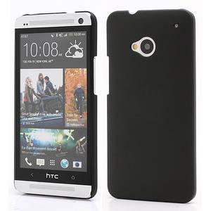 Чехол пластиковый матовый на HTC One M7 801e, черный