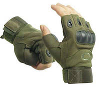 Перчатки тактические Oakley (беспалые). Олива., фото 1