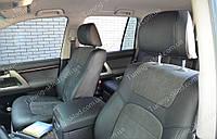 Чехлы на Тойота Ленд Крузер 200 (авточехлы Toyota Land Cruiser 200, Lether style)