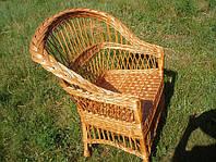 Кресло плетенное из лозы, фото 1