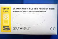 Перчатки виниловые неопудренные белые M