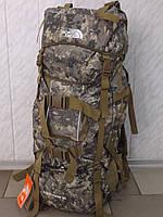 Большой камуфляжный каркасный рюкзак для охоты и рыбалки THE NORTH FACE A49