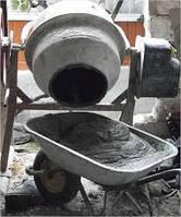 Приготовление бетонного раствора для фундамента