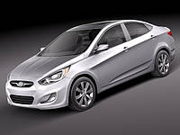 Автомобильные чехлы Hyundai Accent 2010-2013 Sedan