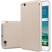 Чехол Nillkin для HTC One X9 золотистый (+плёнка)