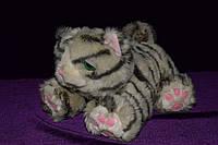 Кот полосатый интерактивный мягкая игрушка, фото 1