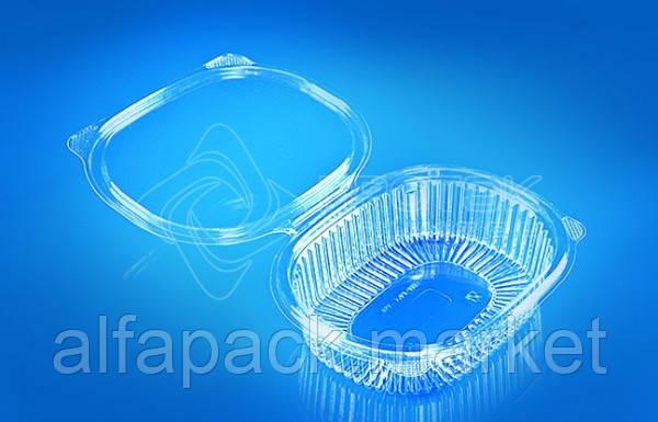 Упаковка для салатов 350 мл, ПР-РКС-350(ПЭТ), 159*130*40