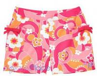 Gymboree Шорты розовые с карманами, Белые цветы