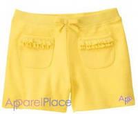 Gymboree Шорты желтые с карманами в рюшечку