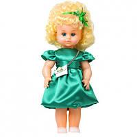 """Лялька """"МІЛАНА НАРЯДНА З СУМКОЙ"""" зелена сукня (40см)"""